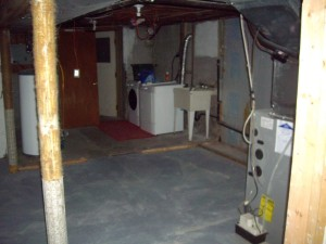 Ottawa Home Renovation Contractor Lisa+Drew Basement before