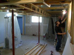 Ottawa home renovation contrator basement gym BEFORE01