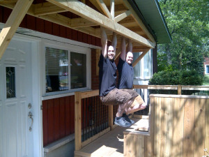 Ottawa Home Renovations Contractor Deck built in seating cedar porch testing