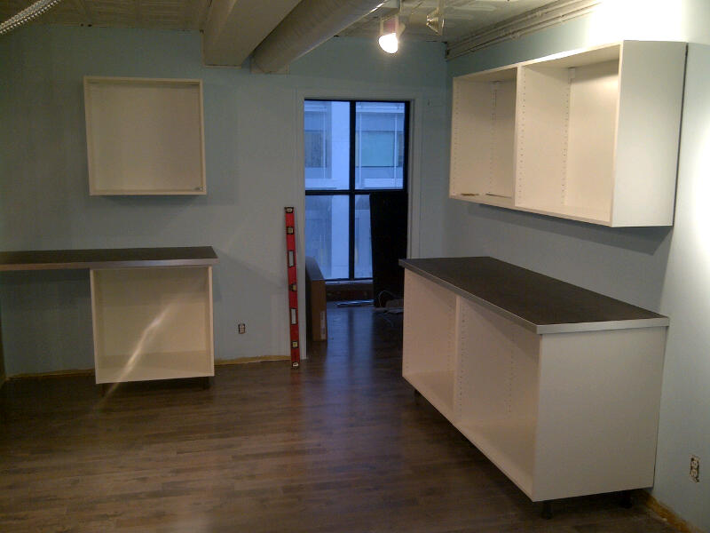 Day 8: Kitchen Installation.