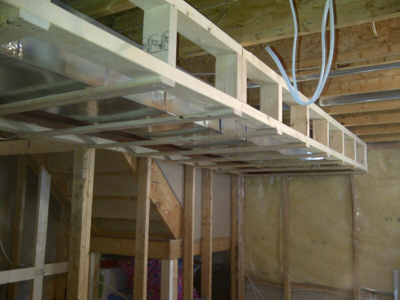 contractor sylvie and ed basement renovation day 2 framing ductwork