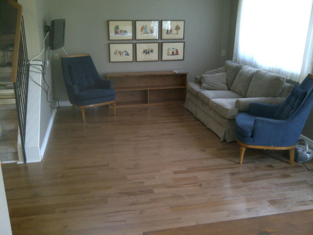 Ottawa Home Renovations Contractor Patricia Kanata Maple Hardwood Flooring Day 2 after v02