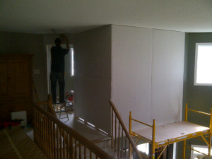 Ottawa Home Renovations Contractor Yvonne and Les Barrhaven turn loft into bedroom Day 1 5 hours in