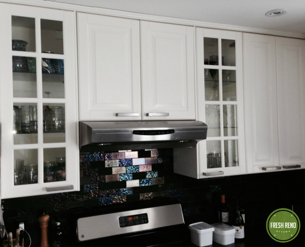 After: Ed and Kate chose fantastic backsplash tiles.