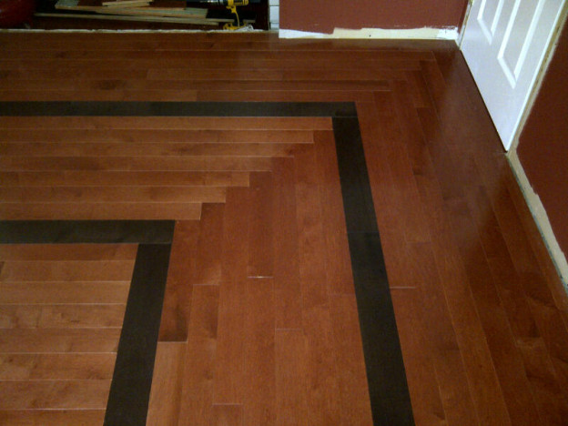 Ottawa renovation contractor Day 6 dining room hardwood floor square pattern