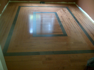 Ottawa renovation contractor Day 6 dining room hardwood floor square pattern v2