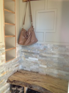 Ottawa home renovations contractor mudroom front hall entry closet recessed shelves done