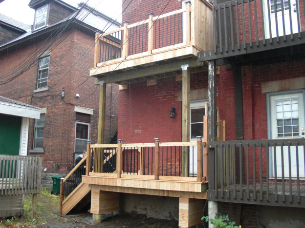 Ottawa home renovations contractor 2 storey deck glebe cedar