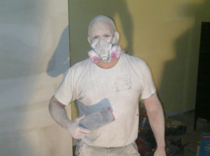 Ottawa renovation contractor Fresh Reno Basement Day 12 sanding drywall