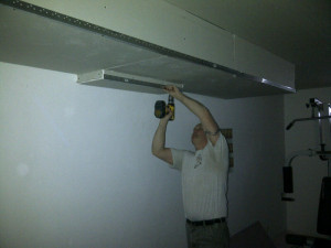 Ottawa renovation contractor Fresh Reno Basement Day 8 ceiling metal corner bead