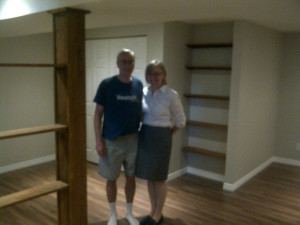 Paul Gratton Ottawa Home Renovation Contractor Orleans Basement Day 20 Belinda and Ron