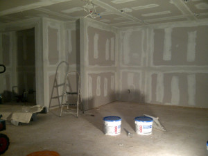 Paul Gratton Ottawa Home Renovation Contractor Orleans Basement Day 9 mudding done