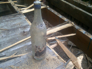 Paul Gratton Fresh Reno Ottawa Home Renovations 2-storey deck Day 10 martini bottle