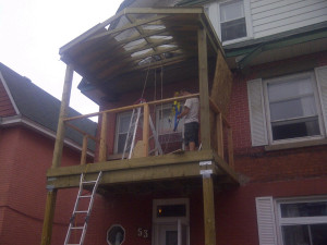 Paul Gratton Fresh Reno Ottawa Home Renovations 2-storey porch Day 11 - framing inspected