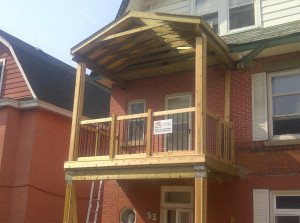 Paul Gratton Fresh Reno Ottawa Home Renovations 2-storey porch Day 13 - top deck complete
