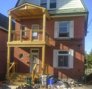Paul Gratton Fresh Reno Ottawa Home Renovations 2-storey porch Day 16 porch done