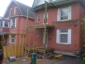 Paul Gratton Fresh Reno Ottawa Home Renovations 2-storey porch Day 9 - roof started