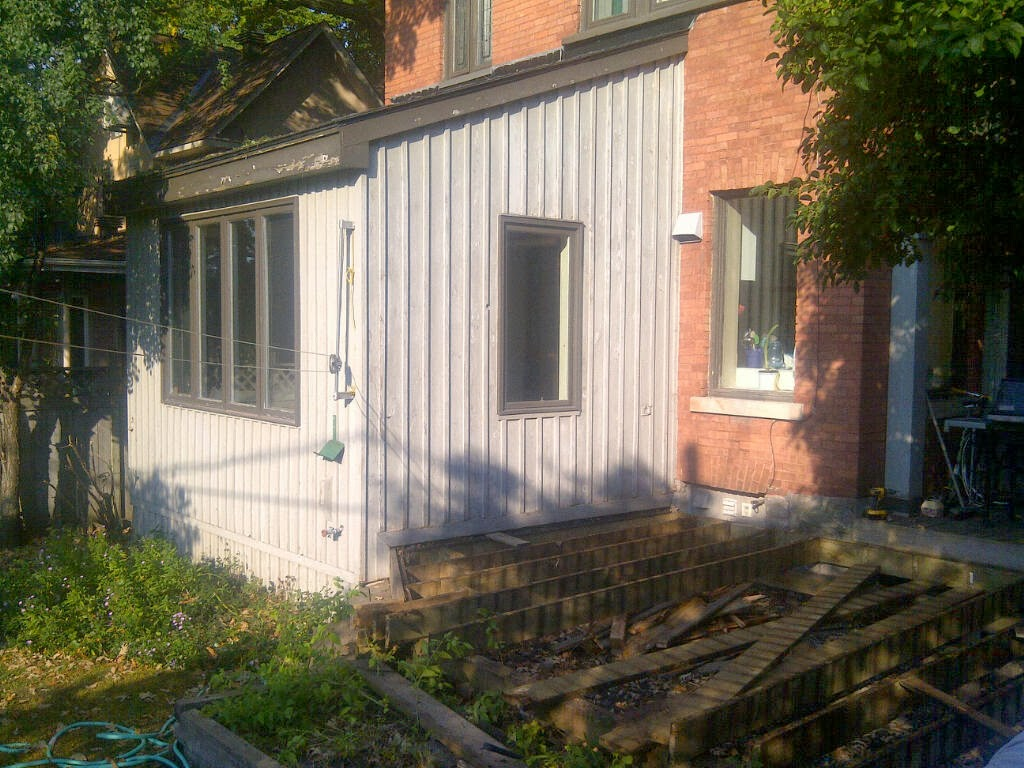 Paul Gratton Ottawa Renovation Contractor Christopher Solar Extension Day 1 Before