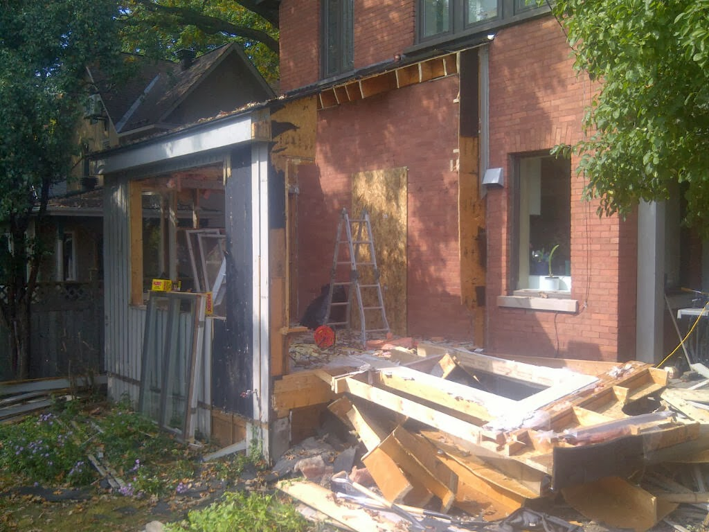 Paul Gratton Ottawa Renovation Contractor Christopher Solar Extension Day 2 Demolition