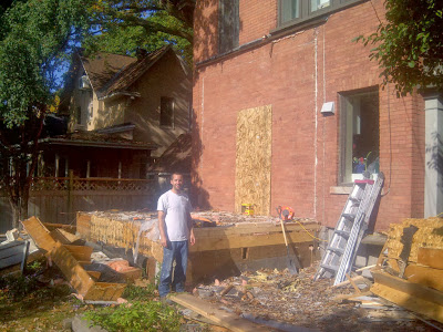 Paul Gratton Ottawa Renovation Contractor Christopher Solar Extension Day 3 Demolition