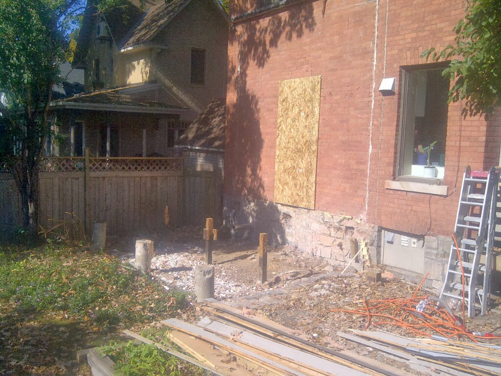 Paul Gratton Ottawa Renovation Contractor Christopher Solar Extension Day 4 Demolition