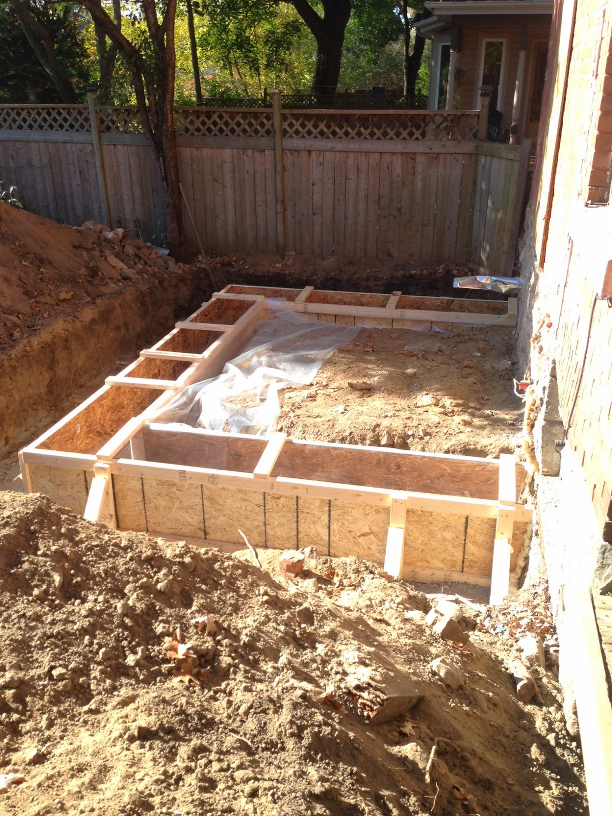 Paul Gratton Ottawa Renovation Contractor Christopher Solar Extension day 10 footings