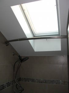 Fresh Reno Ottawa renovation contractor paul gratton susan and colin upstairs bathroom vanier day 8 shower skylight