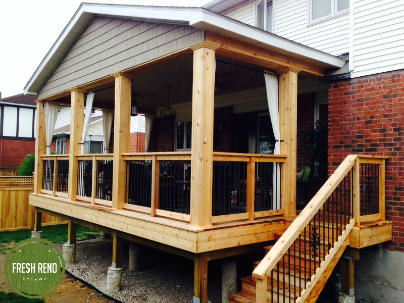 Day 15: The cedar shake was delivered and installed, so now the deck is complete. Suzanne and Norm have been terrific to work for. Enjoy your deck!