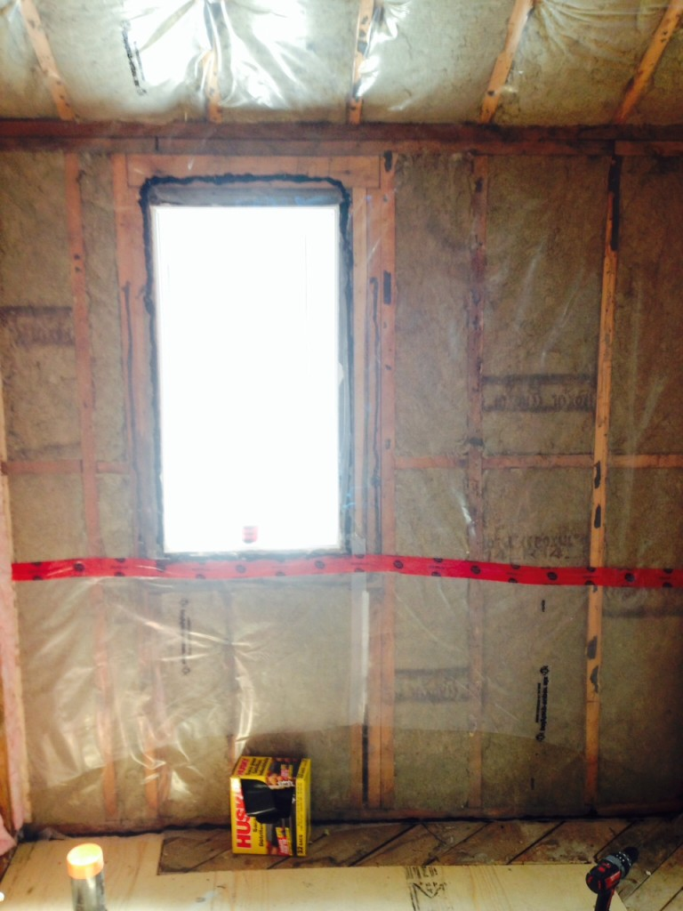 Day 4: new insulation and vapour barrier.