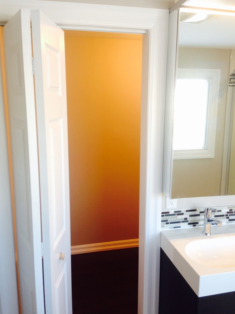 Day 12: This door beside the vanity leads to a walk-in closet.