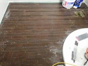 Day 8: Wood effect floor tiles.