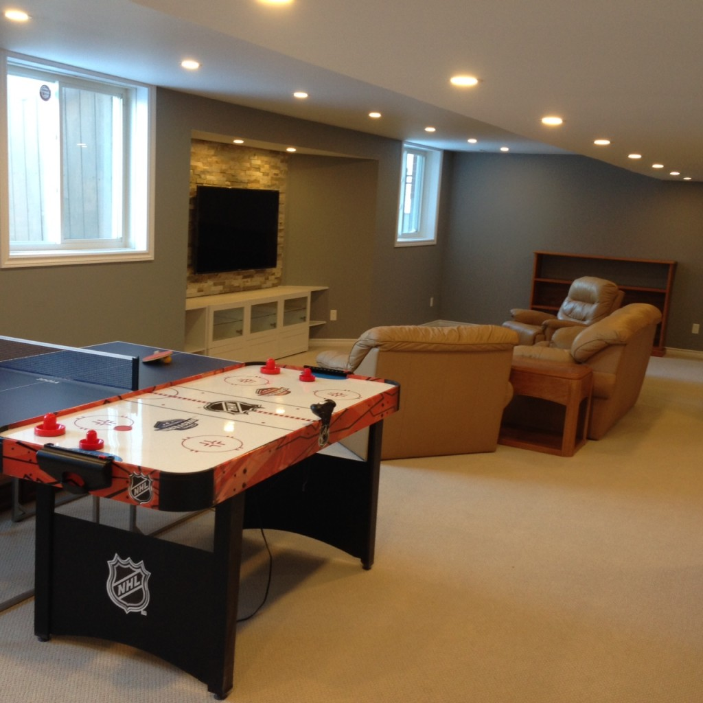 Orleans basement renovation complete!