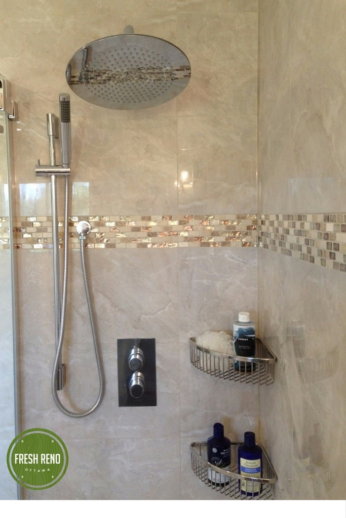 Day 13 Fresh Reno Ottawa renovation contractor shower mosaic manotick nepean kanata barrhaven