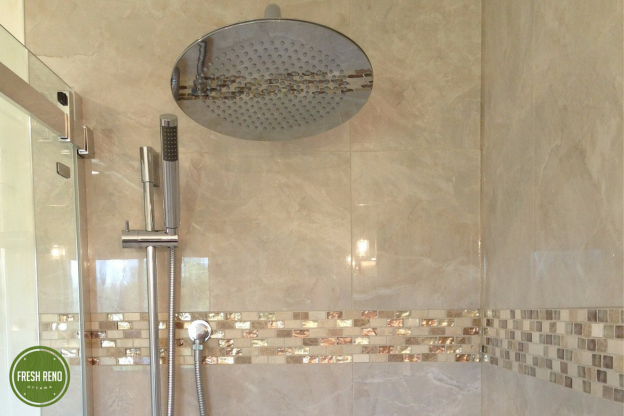Fresh Reno Ottawa renovation contractor shower mosaic tile nepean barrhaven kanata manotick