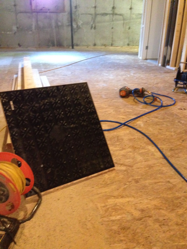 Day 1: Dricore laid on entire 600 sq ft floor.